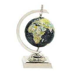 Deco 79 40620 Aluminum PVC World Globe, 9\