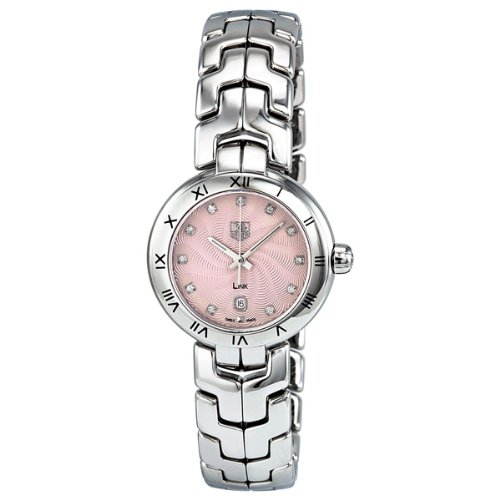 Tag Heuer Link Diamond Pink Guilloche Steel Ladies
