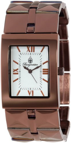 Burgmeister Venus Bm501-415 Ladies Analogue Quartz Wristwatch Brown Silver