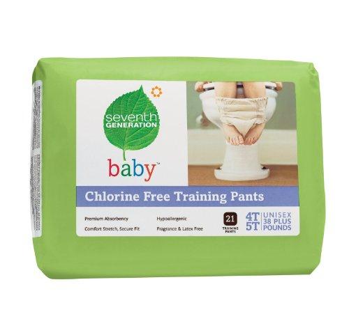 Seventh Generation Chlorine Free Training Pants, 4T-5T 21 ea