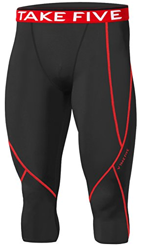 np520-uomo-a-maniche-corte-sportiva-calzamaglia-capri-a-compressione-strato-base-ai-pantaloni-uomo-n