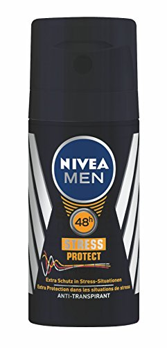 Uomini Nivea Deodorant stress Proteggere Anti traspirante Mini Spray, 3-pack (3 x 35 ml)