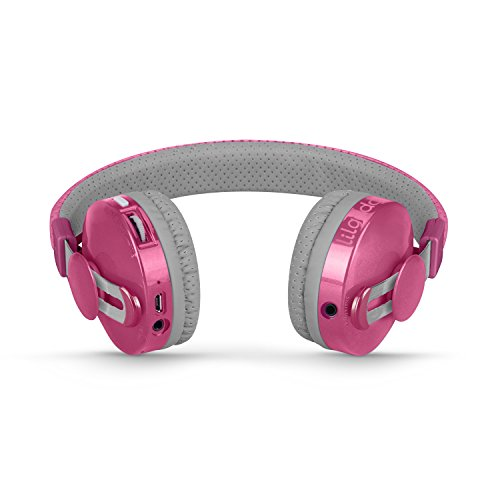 LilGadgets Untangled Pro Premium Children's Wireless Bluetooth Headphones with SharePort - Pink