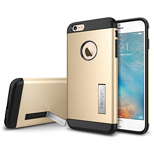 Spigen iPhone6s Plus ケース / iPhone6 Plus ケース, スリム・アーマー  米軍MIL規格取得 衝撃吸収パターン加工  アイフォン6s プラス / 6 プラス 用 耐衝撃カバー (シャンパン・ゴールド SGP11653)