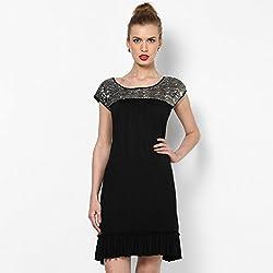 Taurus Women's Dress (FDR-1534_Black_Medium)