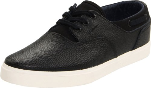 C1RCA Men's Valeo Boat Shoe,Black/Birch,10 M US