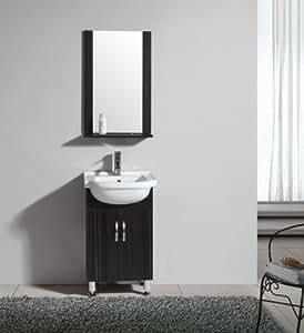 Ensemble meuble de salle de bain Pisa Wengé - M-70295/1196 - Mirroir - meuble sous vasque - vasque