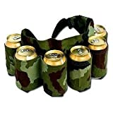 Redneck 6 Pack Beer and Soda Can Holster Belt, Camouflage