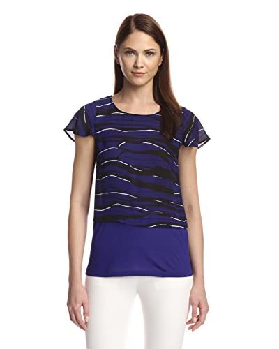 kensie Women's Wave Pattern Shirt