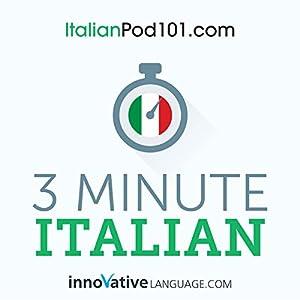 3-Minute Italian Audiobook