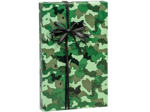 Camo Camoflage Gift Wrap Wrapping Paper 16 Foot Roll front-473615