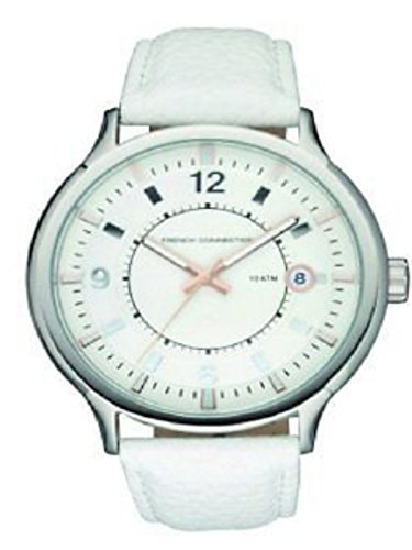 French Connection - Reloj de pulsera hombre, piel, color blanco