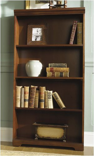"Riverside Furniture 18141 Meridian 60"" H Bookcase in Cordovan Cherry"