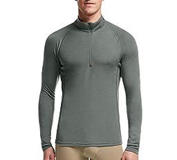 Icebreaker Men\'s Everyday Long Sleeve Half Zip Top, Metal, Large