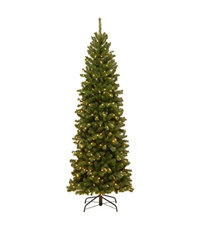 National Tree Company 7.5' North Valley Spruce Pencil Slim Hinged Tree