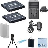 2 DMW-BCK7 Batteries f/ Panasonic Lumix DMC-SZ02, DMC-SZ1, DMC-SZ5, DMC-SZ7, DMC-TS20, DMC-TS25, DMW-BCK7PP, DMW-BCK7E, NCA-YN101G Camera + Charger + Complete Starter Kit