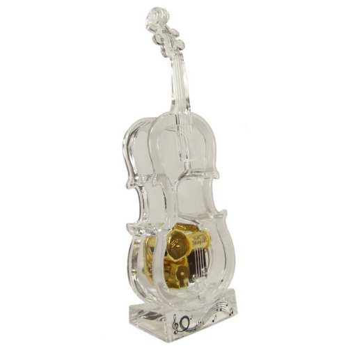 Crystal acrylic violin-shaped music box sky Castle in the sky theme song 'Kimi Wo nosete'