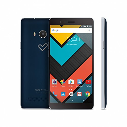 "Energy Sistem Max 2+ - Smartphone con pantalla de 5.5"" (Quad Core ARM Cortex A53 1.3 GHz, Xtreme Sound, cámara de 13 MP, memoria interna de 16 GB, 2 GB de RAM, Android 6.0) color azul"
