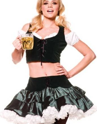 Fraulein Girl German Beer Maid Oktoberfest Womens Halloween Party Costume