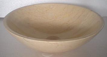 Marmor Waschbecken Stein Becken Bad Waschschale Waschtisch Beige