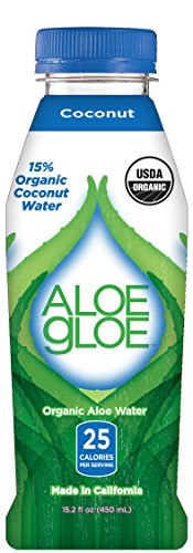 Aloe Gloe, Organic Aloe Water, Coconut, 15.2-Ounce  12 count (Aloe Vera Juice Coconut compare prices)