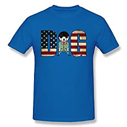 MTOO Men's American Flag With A Dog Tees