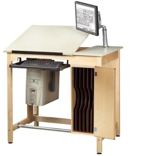 Shain Drawing Table System with Board Storage (Shain SHA-CDTC-72)