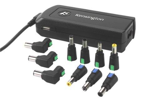 Kensington Wall/Auto/Air Notebook Power Adapter with USB Power Port - Adaptateur secteur - CA/voiture/avion - 90 Watt -