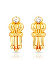 Mahi Gold Plated Royal Style Stud Earrings With Crystal For Women ER1109292G