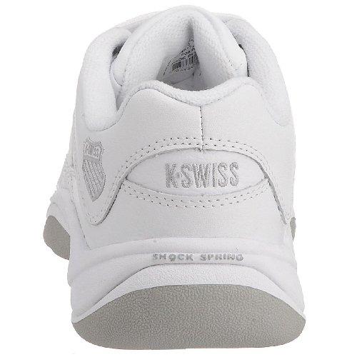 K-Swiss Women's Outshine Carpet Trainer White/Platinum/Light Grey 91146-172 5.5 UK