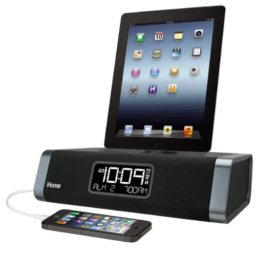 Ihome 30 Pin Dual Charging Stereo Fm Clock Radio With Usb Charging For Iphone/Ipod