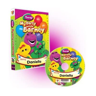 Amazon.com : My Party With Barney Photo Personalized Kids DVD