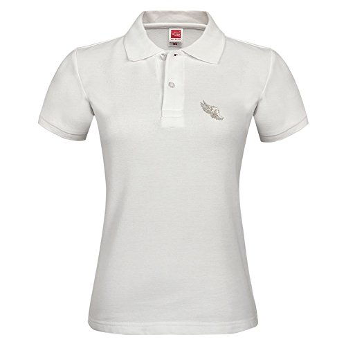 Casual Collar Polo Shirt For Women With Angel Wing Adult Breathable Shirt