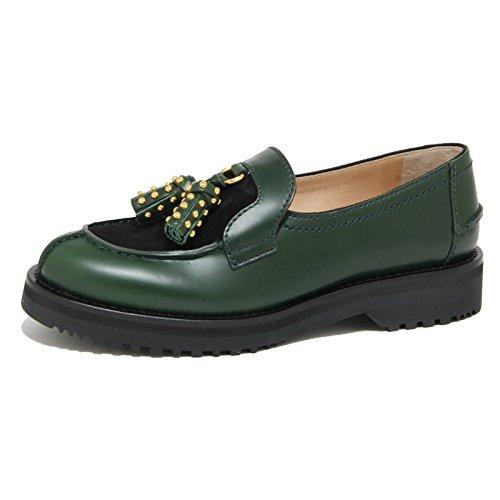 1774O mocassino CAR SHOE verde/nero scarpe donna loafer shoes women [38.5]