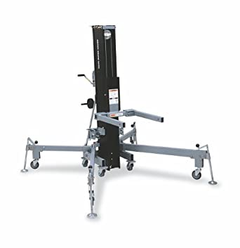 """Genie Super Tower, ST- 25 Truss & Rigging Lift with Anodized Matte Black Finish, 800 lbs Load Capacity, Lift Height 26'0.5"""""""