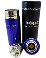 La Gourde d'Eau Alcaline Énergétique Bioexcel - Coupe Nano Bleue + une Carte Bio Gratuite + Autocollants Anti Radiation