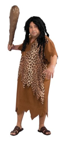 Mens Plus Size Caveman Halloween Costume
