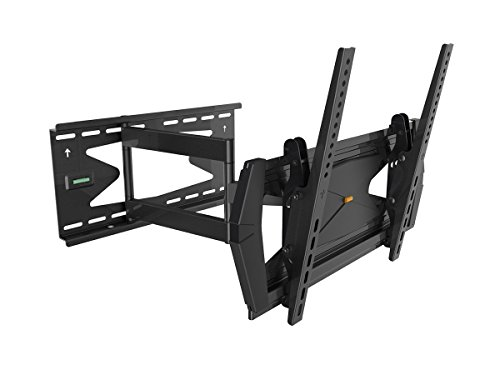 Black Full-Motion Tilt/Swivel Wall Mount Bracket with Anti-Theft Feature for LG 55LM4700 55