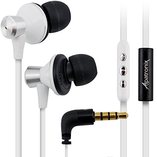 Alpatronix Ex100 In-Ear Headphones With Mic/Control For Android Smartphones (White)