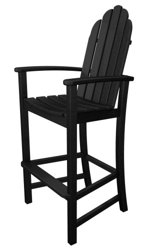 Top Poly Wood Adirondack Bar Height Chair Black Best
