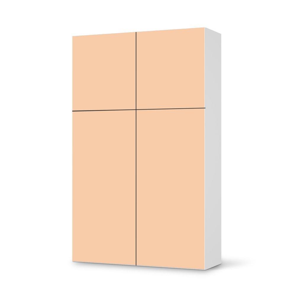 Folie IKEA Besta Schrank Hochkant 4 Türen (2+2) / Design Aufkleber Orange 4 / Dekorationselement kaufen