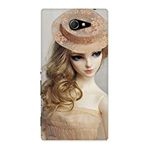 Delighted Royal Doll Multicolor Back Case Cover for Sony Xperia M2