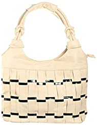 Sakushi Women's Handbag (Off-white, NG 00030 A)