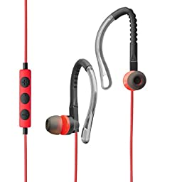 MAXROCK(TM)2015 Sport Stereo Headphones In-ear Earphones with Microphone and Remote Volume Control Adjustable Earhook Earbuds for Cellphones, Laptops , 3.5mm Devices