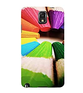 PrintVisa Colorful Pencil Design 3D Hard Polycarbonate Designer Back Case Cover for Samsung Galaxy Note 3
