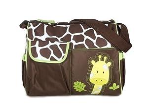 Cool88 2014 New Fashion Multifunctional Mummy Handbag Baby Diaper Nappy Changing Bag (Green Giraffe Pattern)