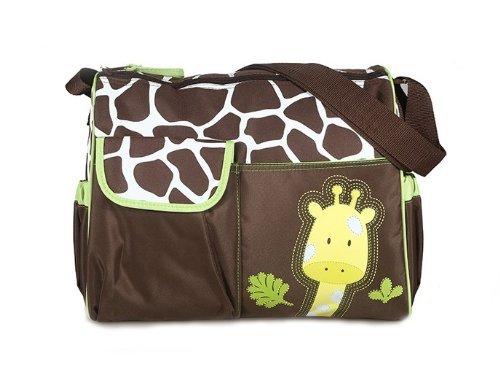 Onegood Multifunctional Baby Diaper Nappy Changing Bag Mummy Handbag (Giraffe Pattern)