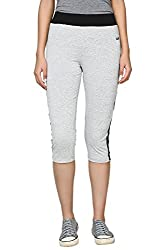 Ajile by Pantaloons Women's Slim Fit Capri ( 205000005635587, Grey, X-Large)