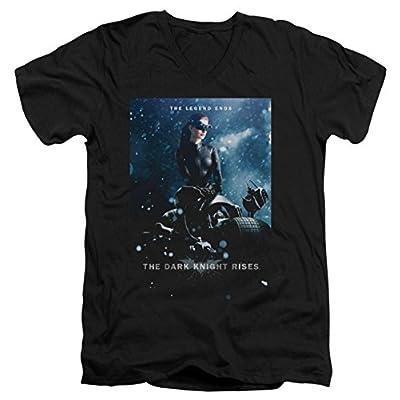 Dark Knight Rises Catwoman Poster Slim Fit V-Neck T-Shirt