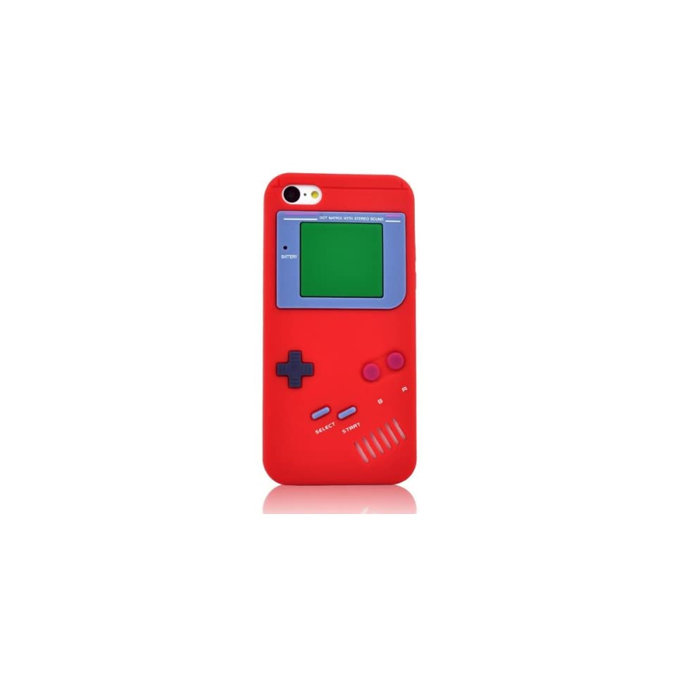 My8 Red Iphone 5C Cover Retro Design Game Boy Style Rubber Case Skin for Apple Iphone 5C
